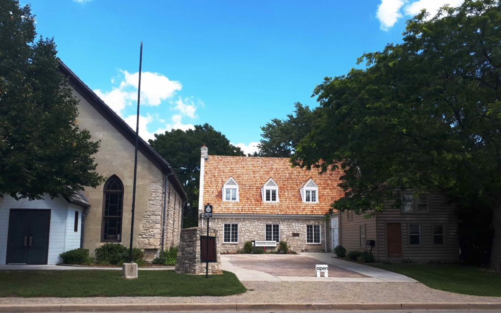 The campus of the Amherstburg Freedom Museum today