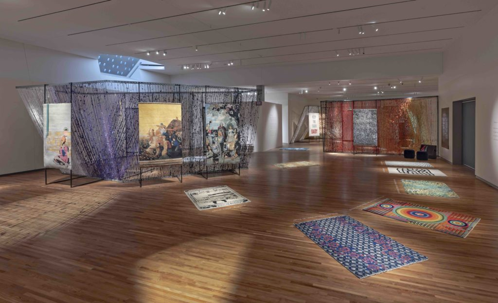 rugs woven by 36 artists from around the world photographed by Toni Hakfenscheid,